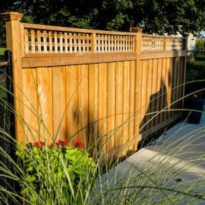 Pressure treated fence and deck construction design
