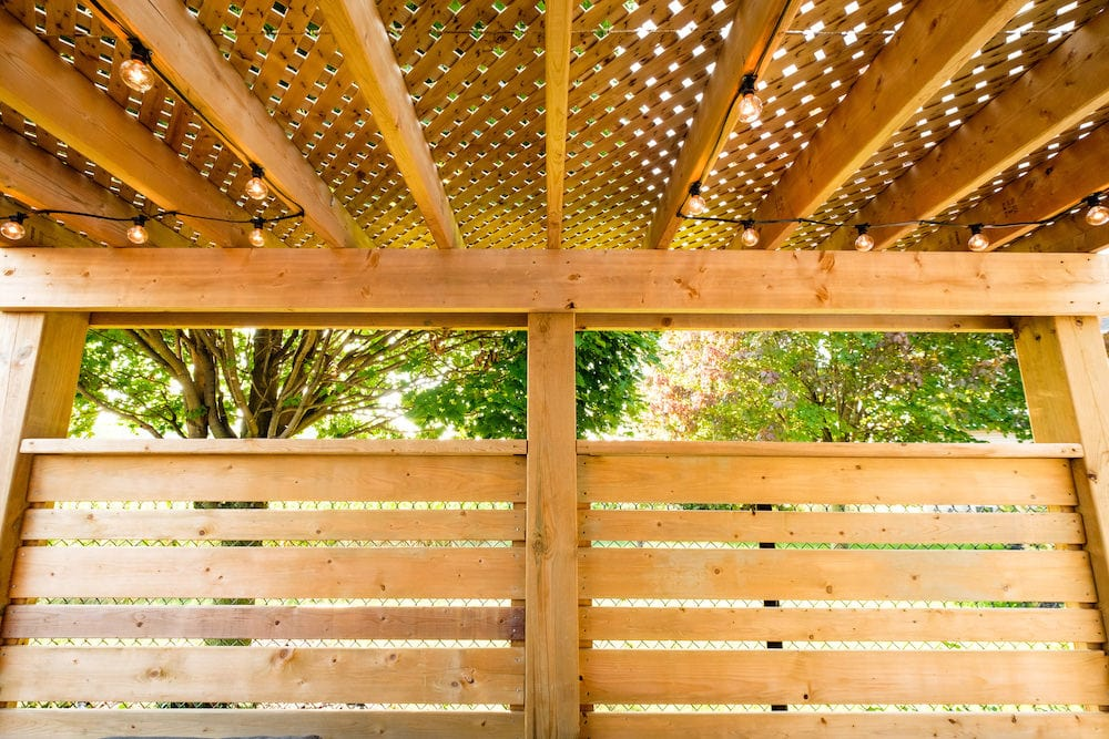 Sienna pressure treated lattice and fence